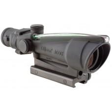 Trijicon 100144 ACOG 3.5x 35mm Obj 28.9 ft @ 100 yds FOV  Tube Dia Black Dual Illuminated Green Chevron