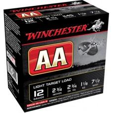 """Winchester Ammo AA127 AA Target Loads 12 Gauge 2.75"""" 1-1/8 oz 7.5 Shot 25 Bx/ 10 Cs"""
