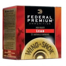 "Fed P1384 Wing-Shok High Velocity Lead 12ga 2.75"" 1-3/8 oz 4 Shot 25Bx/10Cs"