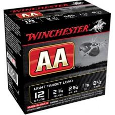 """Winchester Ammo AA1285 AA Target Loads 12 Gauge 2.75"""" 1-1/8 oz 8.5 Shot 25 Bx/ 10 Cs"""