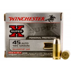 Winchester Ammo X45ASHP2 Special Buy 45 Automatic Colt Pistol (ACP) 185 GR Silvertip HP 20 Bx/ 10 Cs