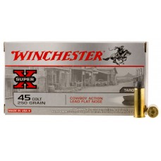 Winchester Ammo USA45CB Special Buy 45 Colt (LC) 250 GR Lead Flat Nose 50 Bx/ 10 Cs