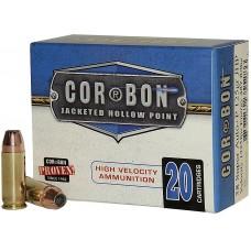 Cor-Bon SD38X125 SELF DEFENSE 38 Super +P Jacketed Hollow Point 125 GR 20Box/25C