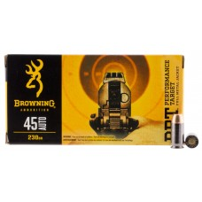 Browning Ammo B191800451 BPT Performance 45 Automatic Colt Pistol (ACP) 230 GR Full Metal Jacket 50 Bx/ 10 Cs