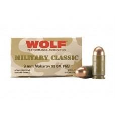 Wolf MC918FMJ Military Classic 9x18 Makarov 95 GR Full Metal Jacket 50 Bx/ 20 Cs