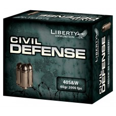 Liberty LA-CD-40-012 Civil Defense 40S&W 60GR LF Fragmenting HP 20 Bx
