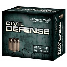 Liberty LA-CD-45-013 Civil Defense 45ACP +P 78GR LF Fragmenting HP 20 Bx