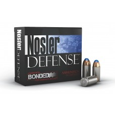 Nosler 39123 Performance Bonded 40 Smith & Wesson 200 GR JHP 20 Bx/ 10 Cs