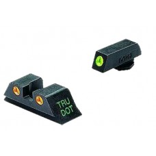 Meprolight 10222O Tru-Dot Night Sights Glock 20/21/29/30/36/41 Tritium Green Tritium Orange Black
