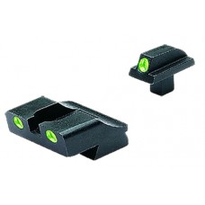 Meprolight 10776 Tru-Dot Handgun Night Sights Colt Government (New Models, .125 Tang) Tritium Green Tritium Green Black