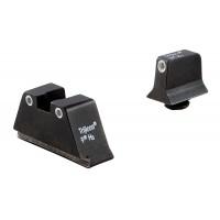 Trijicon GL201C600649 Bright & Tough NS For Glock w/Suppressor F/R Grn Tritium