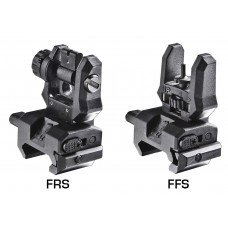 Command Arms FFSFRS Low Profile Flip-Up Front and Rear Sights Picatinny Rail Blk