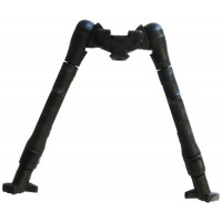 """Command Arms SBP Side Rail Mounted Bipod 8-12"""" Stainless/Polymer Black"""