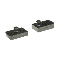 B-Square 1856 Lynx 2-Piece Stud Base For Browning A-Bolt Silver Finish