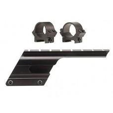 B-Square Saddle Mount w/Rings For Remington 1100/1187 Matte Black Finish