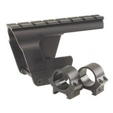 B-Square 18600 Dovetail Scope Mount w/Rings For AK-47/ MAK-90 Matte Black