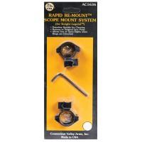 CVA AC1636 Ring Mounts For Legend 2-Piece Style Black Finish