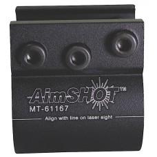 Aimshot MT61167 Laser Mount For 8067 Weaver Style Matte Black Finish