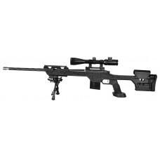 "MasterPiece Arms 308BABLK Bolt Action 308 Win/7.62 NATO 24"" 10+1 MPA Tactical Chassis Aluminum Black Stk Black Cerakote"