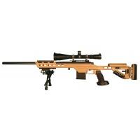 "MasterPiece Arms 308BATAN Bolt Action 308 Win/7.62 NATO 24"" 10+1 MPA Tactical Chassis Aluminum Tan Stk Tan Cerakote"