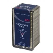 CCI 0055 Small Game 17 Hornady Magnum Rimfire (HMR) 20 GR Full Metal Jacket 50 Bx/ 40 Cs