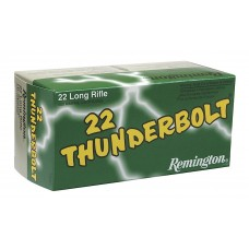 Remington Ammunition TB22B Thunderbolt 22 LR Round Nose 40 GR 500Box/10Case