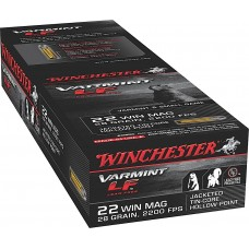 Winchester Ammo X22MHLF Varmint LF 22 Winchester Magnum Rimfire (WMR) 28 GR Jacketed Hollow Point 50 Bx/ 40 Cs