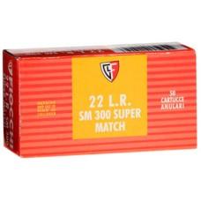 Fiocchi 22SM300 Super Match 22 Long Rifle (LR) 40 GR Lead Round Nose 50 Bx/ 100 Cs