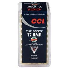 CCI 951 Varmint 17 Hornady Magnum Rimfire (HMR) 16 GR TNT Hollow Point 50 Bx/ 40 Cs