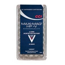 CCI 0059 Varmint Maxi Mag HP +V 22 Win Mag JHP 30GR 50Box/40Case