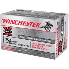 Winchester Ammo X22S Super-X 22 Short 29 GR Lead Round Nose 50 Bx/ 100 Cs