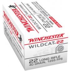 Winchester Ammo WW22LR Wildcat 22 Long Rifle 40 GR Lead Round Nose 50 Bx/ 100 Cs