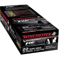 Winchester Ammo S22WM Supreme 22 Winchester Magnum Rimfire (WMR) 34 GR Jacketed Hollow Point 50 Bx/ 40 Cs