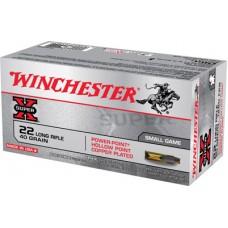 Winchester Ammo X22LRPP Super-X 22 Long Rifle 40 GR Power-Point 100 Bx/ 20 Cs