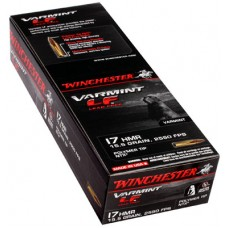 Winchester Ammo S17HMR1LF Varmint 17 Hornady Magnum Rimfire (HMR) 15.5 GR Polymer Tip 50 Bx/ 20 Cs