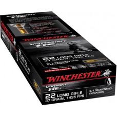 Winchester Ammo S22LRFSP Varmint 22 Long Rifle 37 GR Hollow Point 3/1 Segmenting Core 50 Bx/ 20 Cs