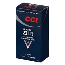 CCI 960 Quiet-22 22 LR 40GR LRN 50 Box/100 Case
