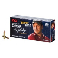 CCI 958 22 Winchester Magnum Maxi-Mag Swamp People JHP 40 GR 200Box/10Case