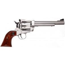 "Ruger 0319 Blackhawk Stainless Steel Single 357 Magnum 6.5"" 6 Hardwood Stainless"