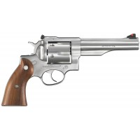"""Ruger 5004 Redhawk Stainless Single/Double 44 Remington Magnum 5.5"""" 6 Hardwood Stainless"""