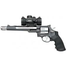 "S&W 170318 629 Performance Center Hunter 44 Mag 7.5"" 6rd Blk Syn Grip Blk Frame SS Cyl Blk/SS Barrel"