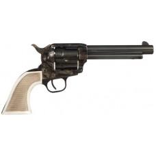 "Taylors&Co 555127 Cattleman Taylor Marshall 45 Colt 5.5"" 6rd White PVC Grip Blue"