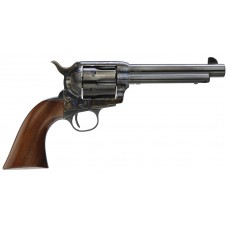"""Taylors&Co 5001 Cattleman Gunfighter 45LC 5.5"""" 6rd Army Size Walnut Grip Blued"""