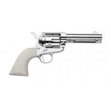 """Traditions SAT73131 1873 SAFrontier Nickel 45 Colt (LC) 4.75"""" 6 White PVC Nickel"""