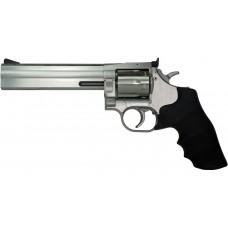 "Dan Wesson 01932 715 357 Magnum Single/Double 357 Magnum 6"" 6 Black Rubber Stainless"