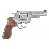 """Ruger 1755 GP100 Match Champion Adj Rear Sight Double 357 Magnum 4.2"""" 6 Hogue Stippled Hardwood Stainless"""