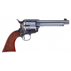 """Taylors and Company 556209DE Short Stroke Gunfighter Army Grip Single 357 Magnum 7.5"""" 6rd Walnut Army Sized Blued"""
