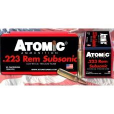 Atomic 00429 Subsonic 223 Remington/5.56 NATO 77 GR HPBT 50 Bx/ 10 Cs