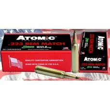 Atomic 00459 Match 223 Remington/5.56 NATO 77 GR Tipped MatchKing 20 Bx/ 12 Cs