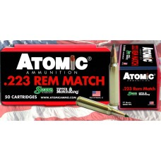 Atomic 00452 Match 223 Remington/5.56 NATO 77 GR Tipped MatchKing 50 Bx/ 10 Cs